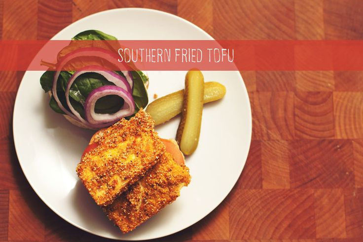 Southern Fried Tofu! {chicksandpeas.ca}