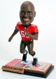 Tampa Bay Buccaneers Derrick Brooks Ticket Base Forever Collectibles Bobblehead Z157-8132915827