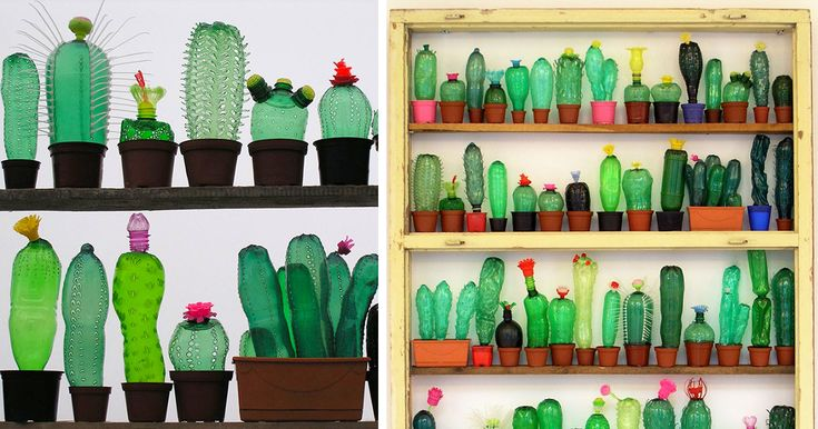 Recycled PET Plastic Bottle Plant And Animal Sculptures By Veronika Richterová | Bored Panda