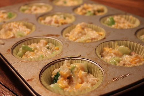 "Chicken Broccoli Rice Cups: freezable lunch ideas for ""little people"""