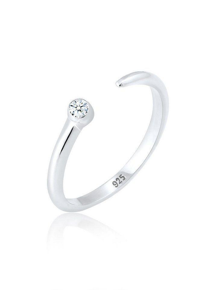 Elli Diamantring »Solitär Schwarzer Diamant (0.03 ct) 375er
