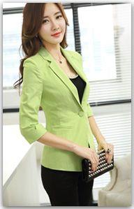 Aliexpress.com: Comprar Femme chaqueta 2015 moda de nueva negro mujer tres botón chaqueta traje chaqueta de manga larga blazers para mujeres de chaqueta de la luz fiable proveedores en NAI HUI Business Suit Flagship Store