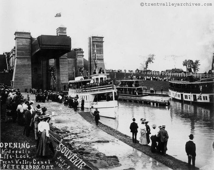 1. On May 24th, 1884, Peterborough became the first city in Canada with  electric street lighting.  2. The Peterborough Lift Lock, constructed in 1904, is the highest  hydraulic lock in the world with a rise of 65 feet (19.8 m).  Historical pic via Trent Valley Archives  3. Trent University celebrated its 50th anniversary in Peterborough in  2014, and Fleming College will celebrate its 50th in 2017.  4. The Hunter Street Bridge across the Otonabee River was, at the time of  its completion…