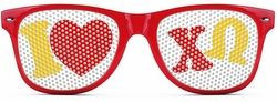 Chi Omega Wayfarer Style Lens Sunglasses SALE $12.95. - Greek Clothing and Merchandise - Greek Gear®