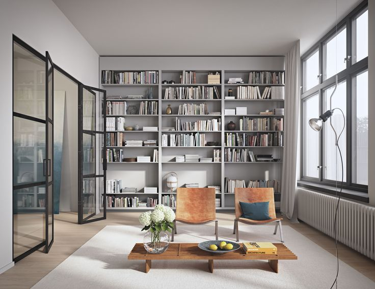 Oscar Properties #oscarproperties Stockholm, Radiofabriken, Industriverket, books, living room