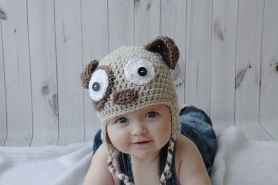 Dog hat beanie puppy canine animal handmade by LaCapitaineCrochete