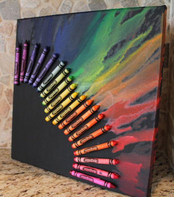 Colorie fondu coeur sur toile par CrayonJunkie sur Etsy