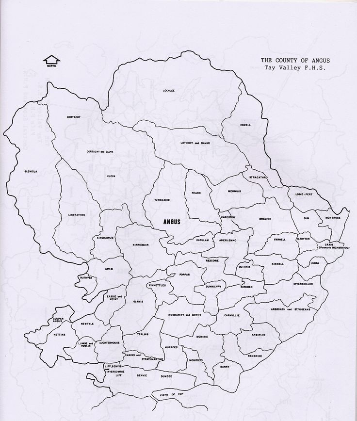 Parish maps of the county of Angus from Scotlandsfamily.com - Scottish genealogy portal assisting Scottish ancestor search