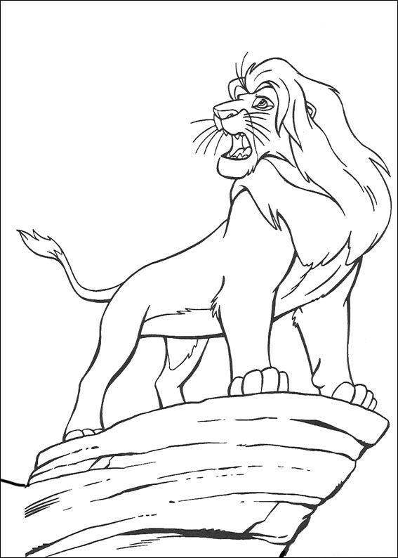 der könig der löwen 3 ausmalbilder für kinder. malvorlagen