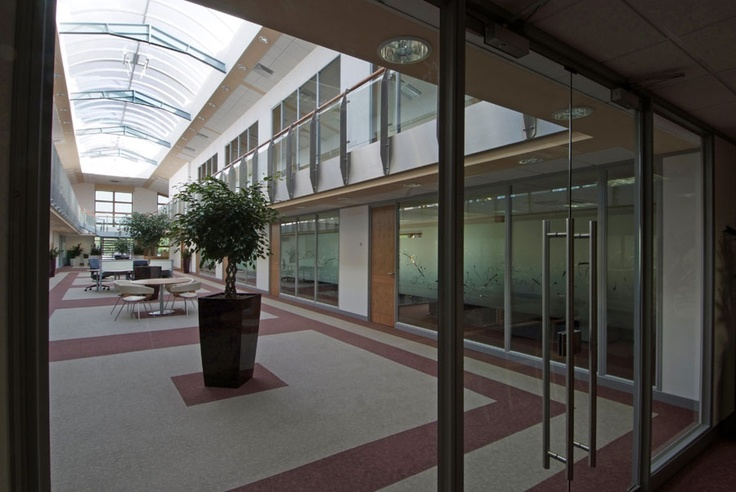 Open plan atrium and serviced offices at Carrwood Park