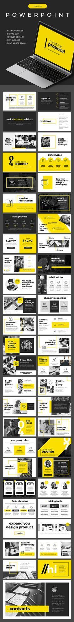 Business Powerpoint Template - 50 Unique Slides