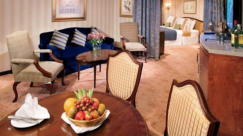 Azamara Club Cruises - Journey Royal Suite.  Globe Travel in Bristol, CT is standing by to make your vacation dreams come true!  Reach us at 860-584-0517 or by email at info@globetvl.com!