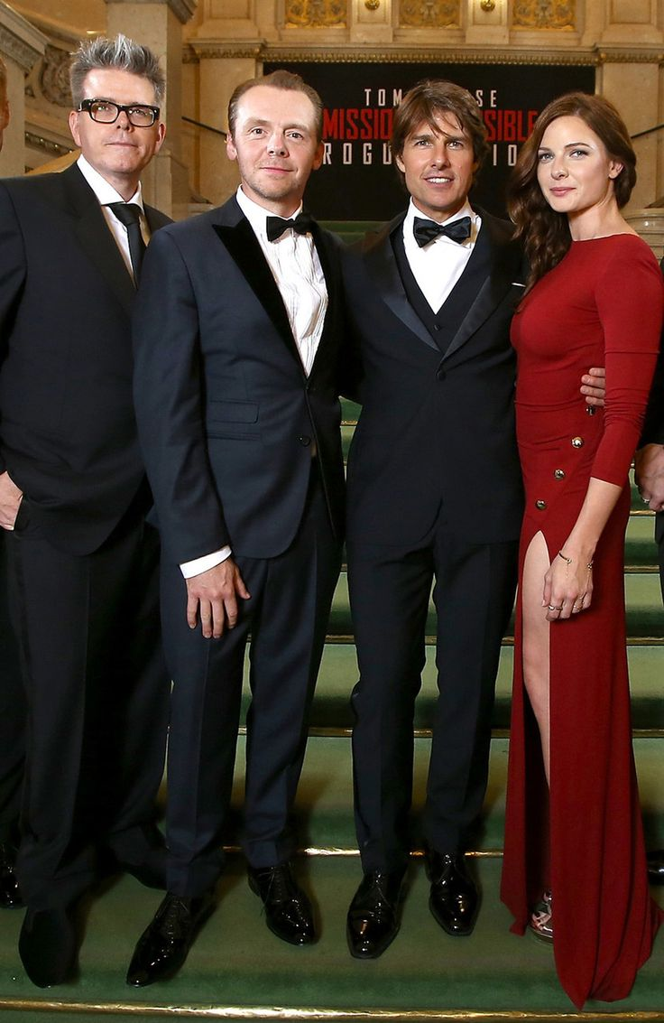 fltr: Director Christopher McQuarrie and actors/actress Simon Pegg, Tom Cruise and Rebecca Ferguson - MISSION IMPOSSIBLE 5 ROGUE NATION - Paramount Pictures - kulturmaterial