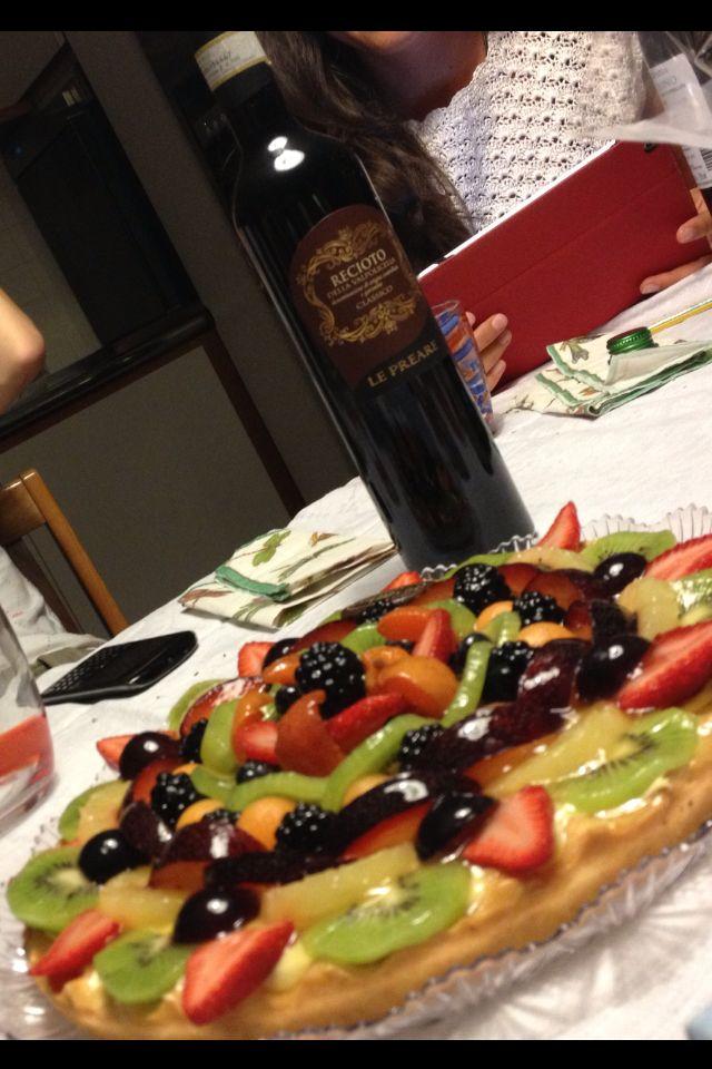 Crostata alla frutta e Recioto