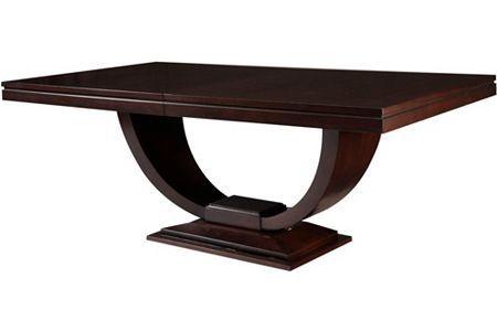 Pinstripe Pedestal Dining Table