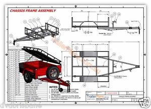 Original 3 SetsTrailer Plans 4x6 Off Road  6x12 Utility  5x10