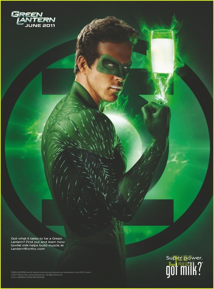 got milk? ads -Ryan Reynolds,  \  The Green Lantern