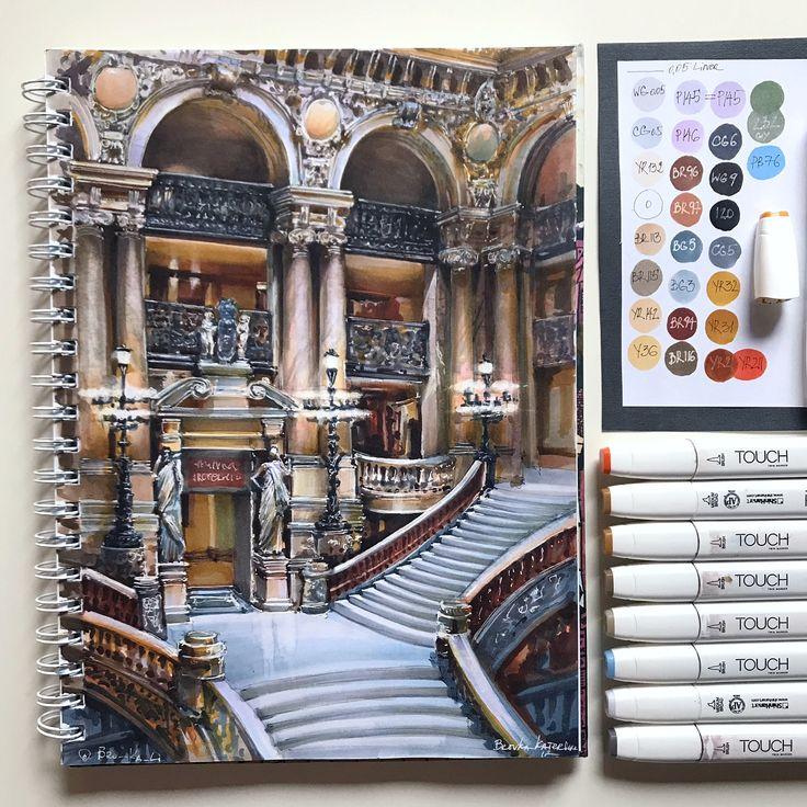 Staircase and Sculptures by Katerina Kurtakova