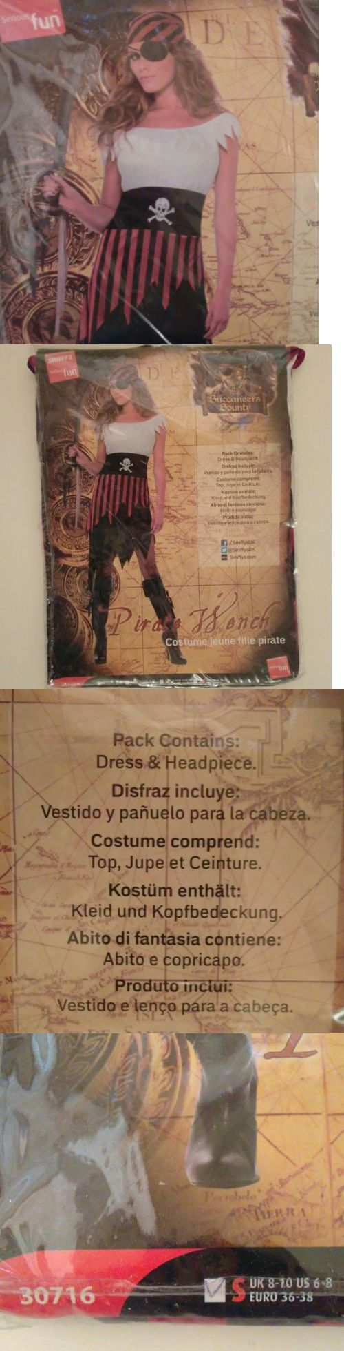 Women Costumes: Pirate Wench Costume Includes Dress And Headpiece Smiffy S New Womens Sz Small -> BUY IT NOW ONLY: $15.71 on eBay!