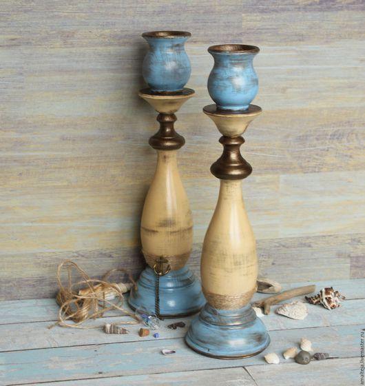 Wooden candle holders / Подсвечники ручной работы. Подсвечники