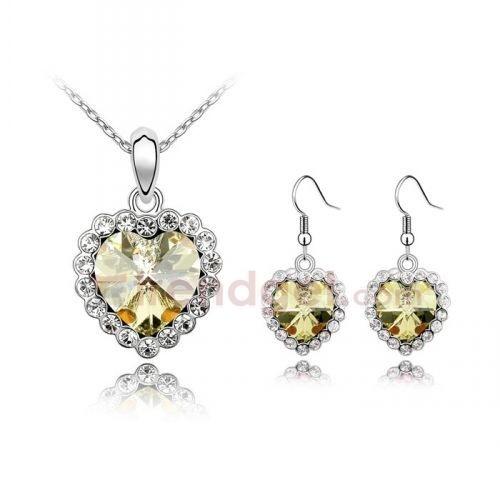 Amazing Austria Crystal Gold Plated Fashion Jewelry Sets