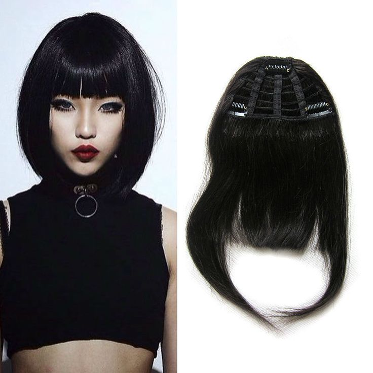 Najwyższej Jakości Ludzkich Włosów Grzywka 100% Ludzkie Włosy Klip Grzywka 25g Prosto Klamerka W Bangs Natural Human Hair Fringe