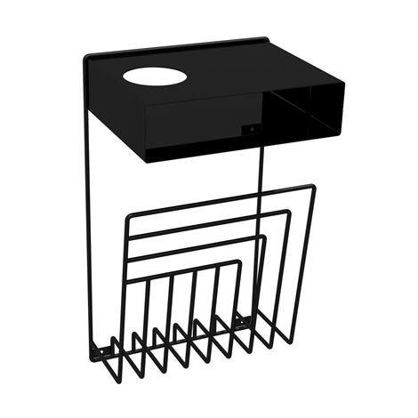 Pejl Nachttisch für Wandmontage - schwarz - Perform
