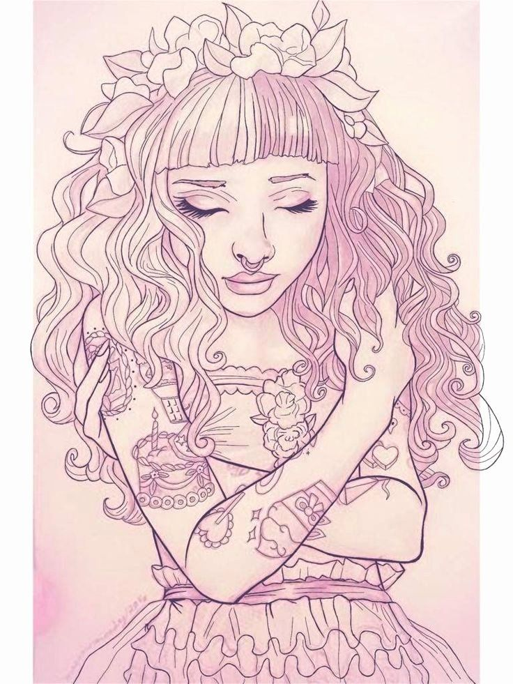 Melanie Martinez Coloring Book New Melanie Martinez Black And White Coloring  Pages T… Melanie Martinez Coloring Book, Horse Coloring Books, Cry Baby Coloring  Book