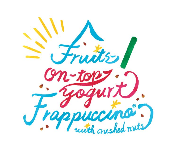 Fruits-on-top-yogurt-Frappucino® with crushed nuts