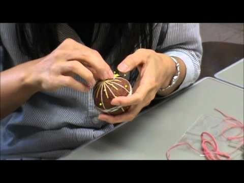 How to make a Sanuki Kagari Temari. Blog from tour of Japanese factory and short video how to
