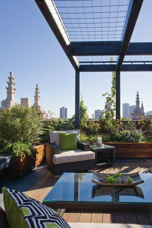 Successful Rooftop Transformation in Chicago Planter boxes