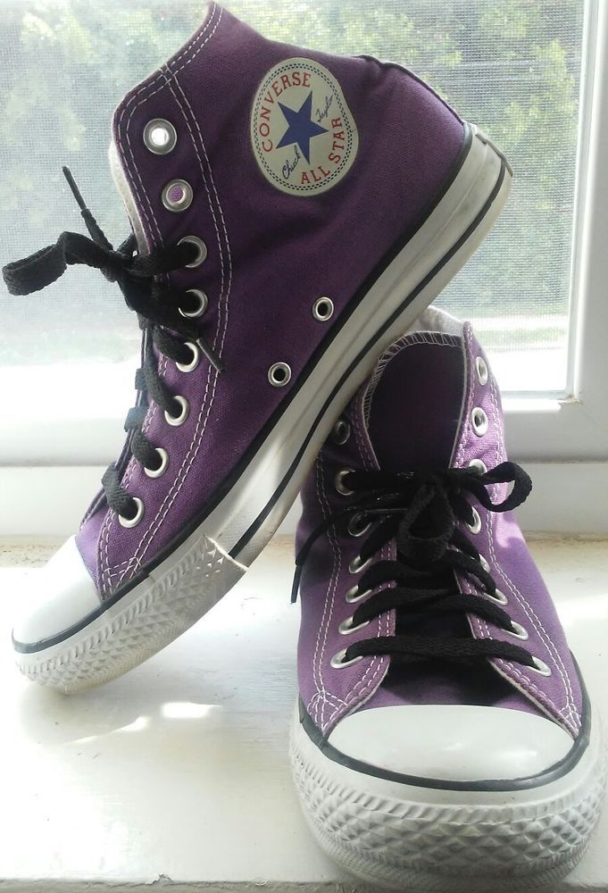 Converse All Star Purple Classic High Top Chuck Taylor Men's Size 7, Women's 9 | Clothing, Shoes & Accessories, Unisex Clothing, Shoes & Accs, Unisex Adult Shoes | eBay!