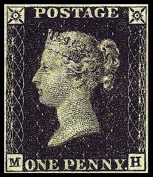 """El 06/05/1840 se puso en circulación el primer sello de correos, conocido como """"penique negro"""". Rápidamente, este invento británico se copió y popularizó en muchos países"""