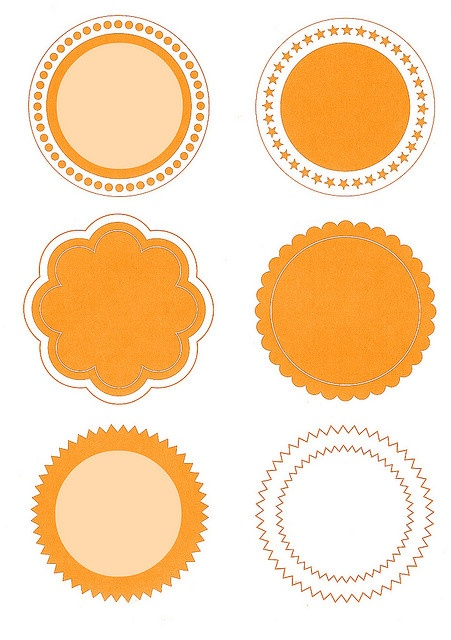 Nice tags/labels for Halloween or take them into your paint program and change color.