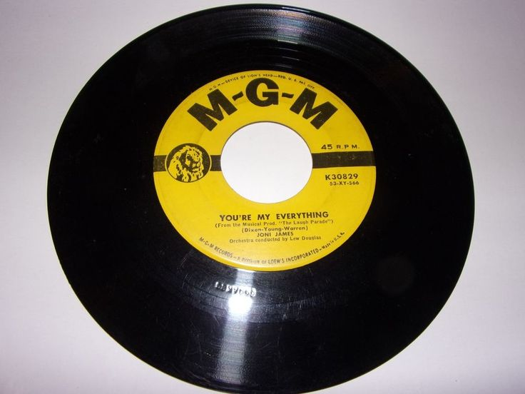 "45"" Joni James: You're My Everything / You're Nearer / VG  #1950sPopRock"