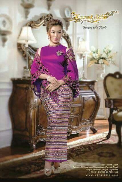 79 Best Images About Myanmar Dress On Pinterest Blue
