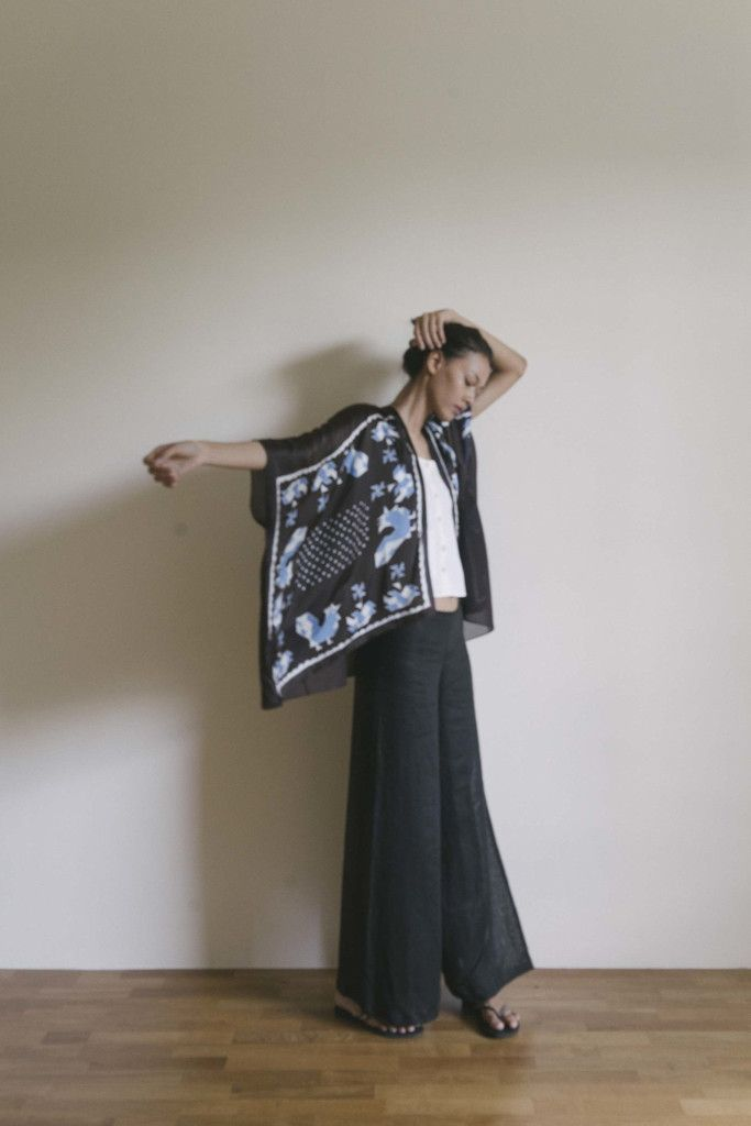 [Pre Order] Scarf Outer Blue Ayam Ditaman