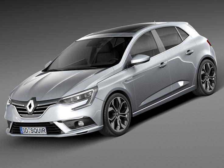 2016 Renault Megane 3D C4d - 3D Model