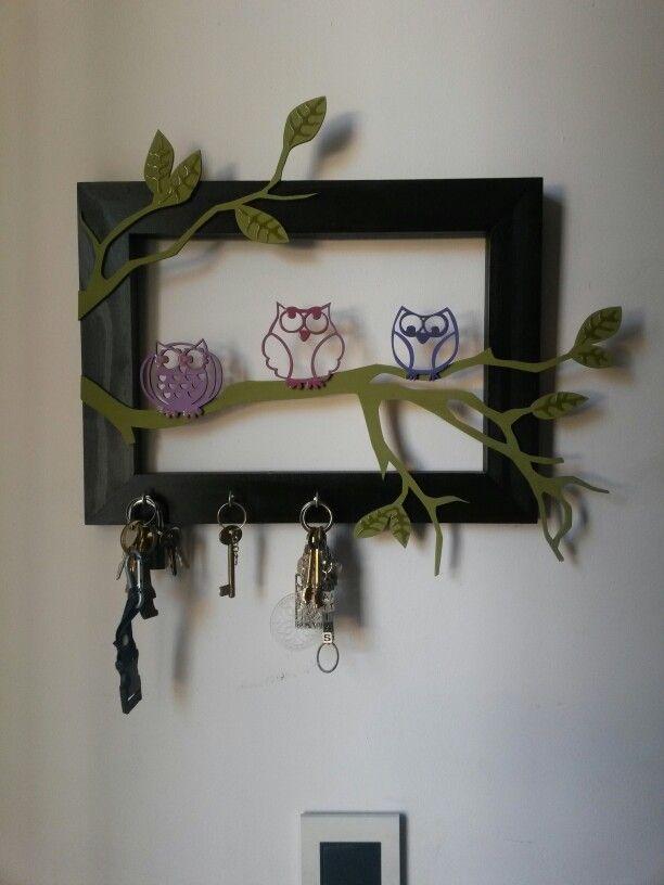 Porta llaves de buhos porta llaves pinterest - Porta llaves pared ...