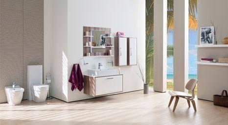 "The ""cream"" bathroom furniture by Creavit will add a touch of silk to your bathrooms. #ceramics #turkishceramics #creavit"