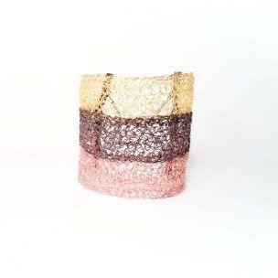 Contrast Βραχιόλι πλεκτό με 3 χρωματισμούς επίχρυσο 18k, ροζ χρυσό και μαύρο επιροδιωμένο http://www.algoelegante.gr/el/119/bracelets/contrast-.html #algoelegante, #cuffbracelet, #3color, #wirecrochet, #gold, #rosegold, #black, #rhodium, #fashion, #women, #rock, #glamour, #shop, #forsale
