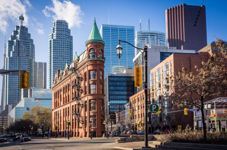 Toronto's Gooderham Building by John Cavacas Photography. An iconic landmark of Toronto, viewed on a crisp February morning