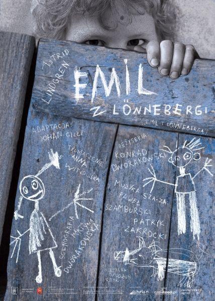 """Emil z Lönnebergi Teatr """"BAJ""""  czwartek 17 stycznia 2013  Godziny: 10:00;  piątek 18 stycznia 2013  Godziny: 10:00;  sobota 19 stycznia 2013  Godziny: 11:00;  niedziela 20 stycznia 2013  Godziny: 11:00;  wtorek 22 stycznia 2013  Godziny: 10:00;"""