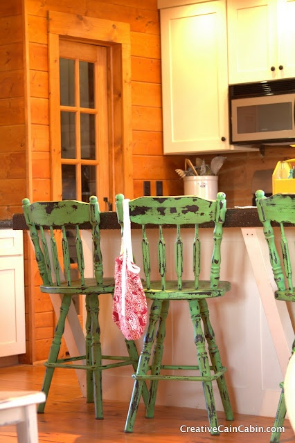 painted stoolsIdeas, Barstools, Furniture Makeovers, Diy Furniture, Painting Bar Stools, Painting Furniture, S'Mores Bar, Cain Cabin, Creative Cain