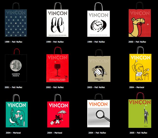 Les bosses de Vinçon. Shopping bag evolution #packaging PD