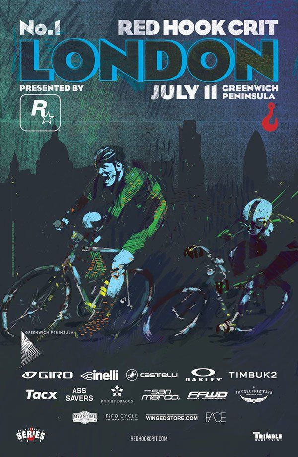 Red Hook Criterium | London No. 1 Official Poster | GIRPATEN BIKE WORKS