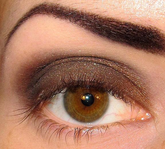 Shadows in the Dark Eyeshadow Mineral makeup (Dark black brown gold copper green shimmer)