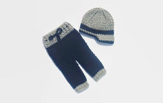 Crochet Newborn Boy Pants and Newsboy Hat by DeesCozyCreations