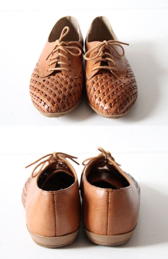 Woven Leather Brogues