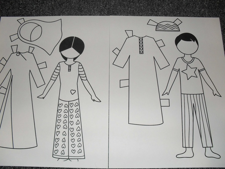 Little Muslim Paper Dolls..